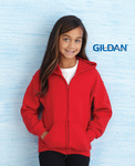 Heavy Blend Youth Full Zip Hooded Sweatshirt